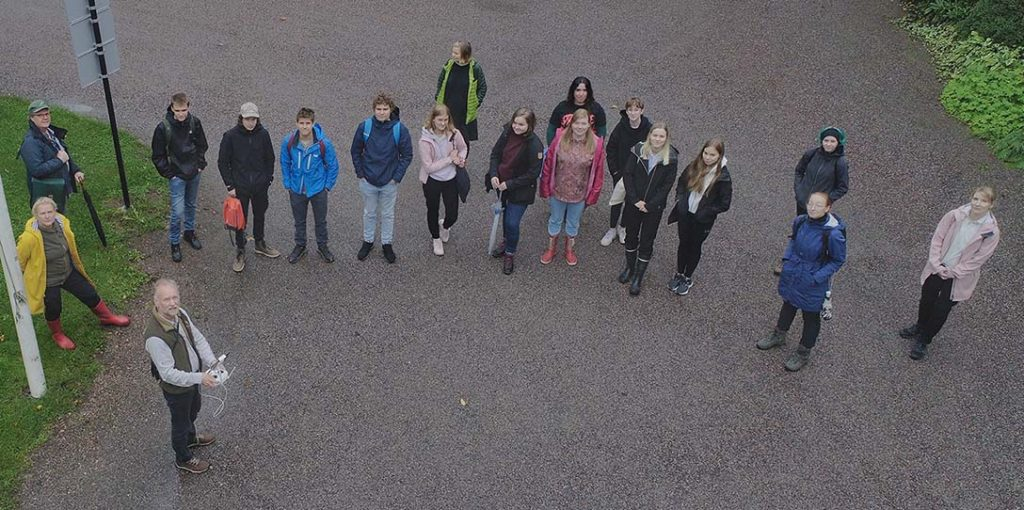 High school students in Fiskars